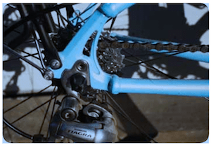 The derailleurs are an integral part of the gear shifting system - bike terms