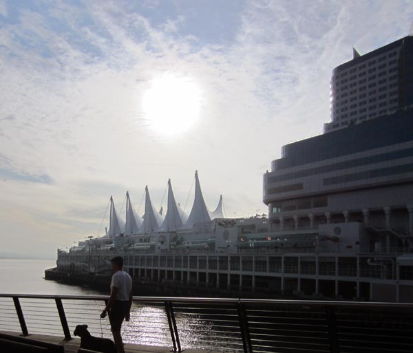 Canada Place Convention Center on the Seaside Bike Route, Vancouver