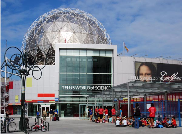 Science World is a great stop along the Seaside Bike Route. Stop to take in a movie at the OmniMax. cycling vacation in Vancouver