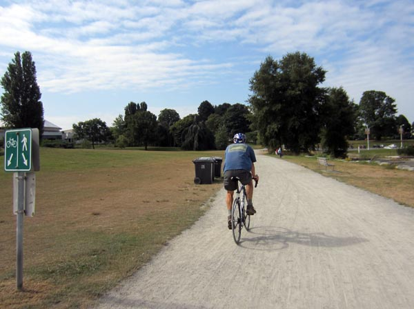 Some parts of the Seaside Bike Route are not paved