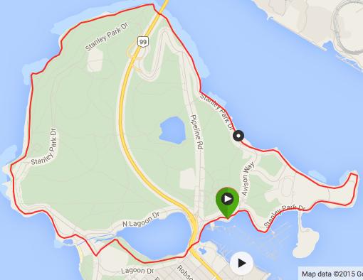 Map of Stanley park seawall Bike Trail. http://amzn.to/2hqcg9Q