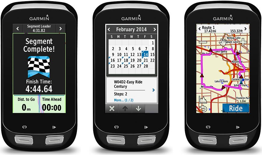 Garmin Edge 1000 is the top of the range of the Garmin Edge line of premium bike computers - Garmin Edge 1000 vs 810