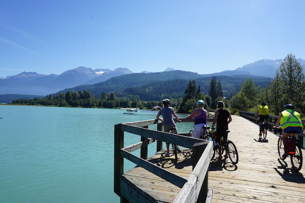 The boardwalk bridge at Green Lake is one of the most beautiful parts of the Whistler Valley Trail. Whistler Valley Trail – Whistler Village to Green Lake