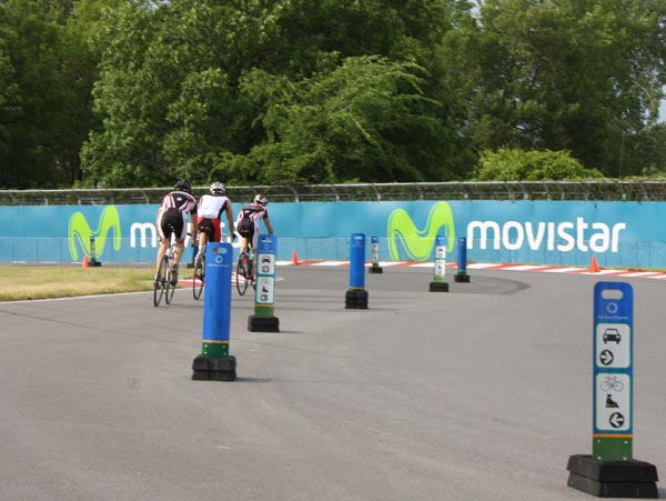 At the Gilles Villeneuve Circuit you will see some very expensive bikes ridden by cyclists in high-end cycling clothes - Montreal cycling