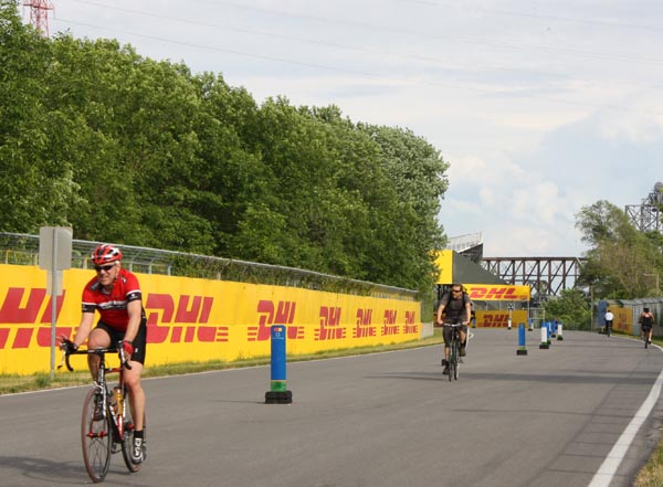 Le circuit Gilles-Villeneuve attire l'attention de toutes sortes de cyclistes