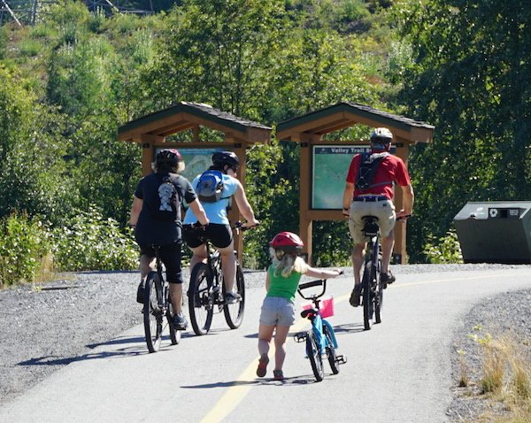 The Whistler Valley Trail is suitable for all ages and abilities, making it a great place for active family vacations. Babies and Bikes: How to Get Kids Active from the Start