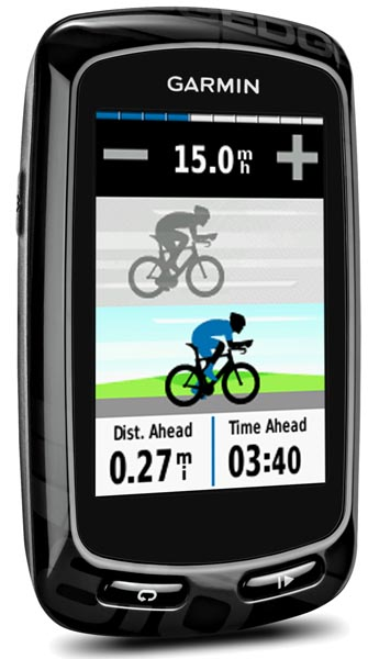 The Garmin Edge 810. In this mode, you can compete against your previous time by inputting a shorter time, and then racing against your Virtual Partner, who will travel at the speed you selected - Garmin Edge Touring vs 810