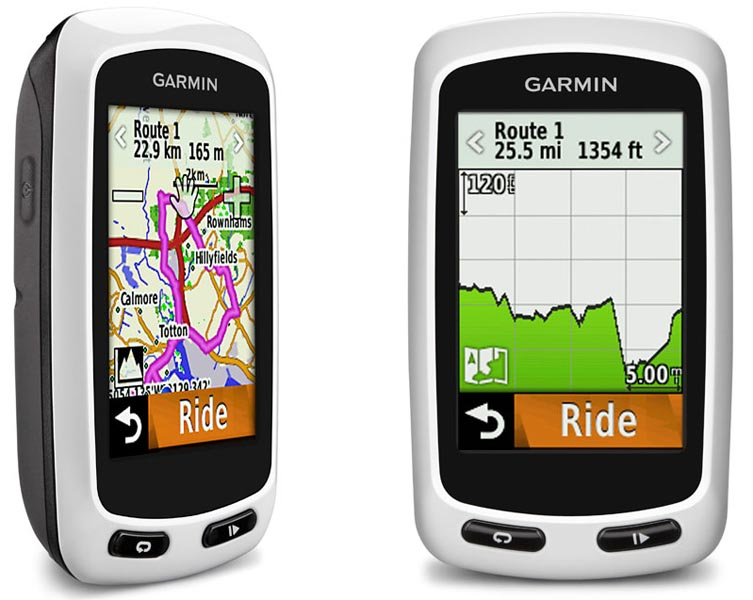 The Garmin Edge Touring is ideal for finding your way around - Garmin Edge Touring vs 810