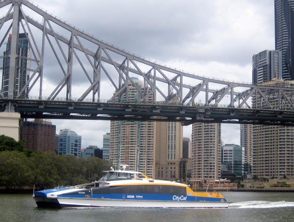 The City Cat is a brilliant way to get around Brisbane