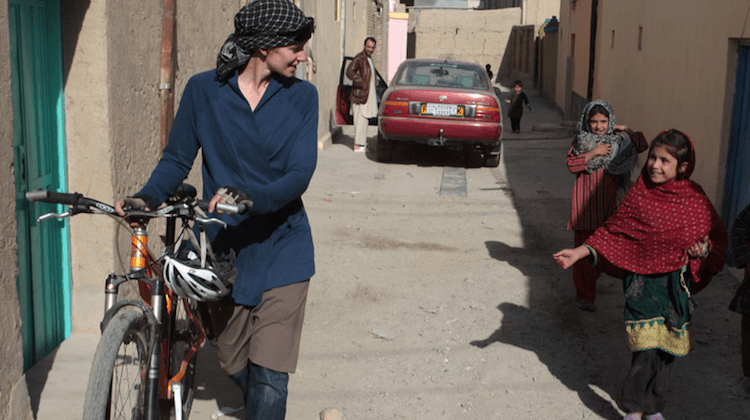 Shannon Gilpin in Afghanistan