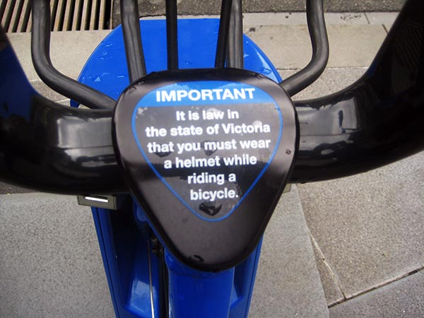 State laws in Melbourne mandate bike helmets - and the program is failing. Vancouver Bike Share