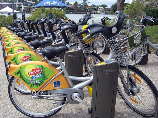 Citycycle station in Brisbane