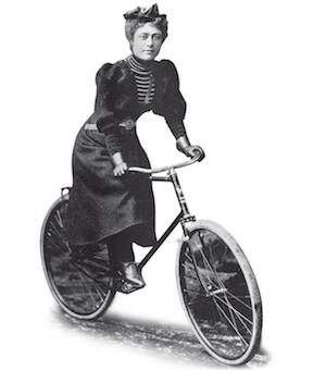 The bicycle was an integral part of the women's rights movement in the USA in the 1890s