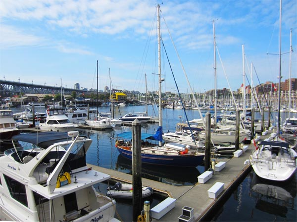 You can see many beautiful marinas as you cycle along the Seaside Bike Route