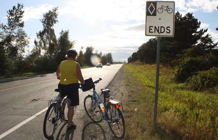 It's not at all inconvenient when a bike lane just ends in the middle of nowhere ... just so that the highway can be three foot wider ...