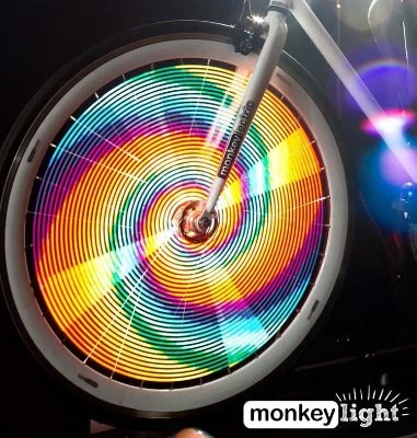 Gifts for women cyclists. Monkeylectric lights are safe, FUN, durable, versatile, and cheap.