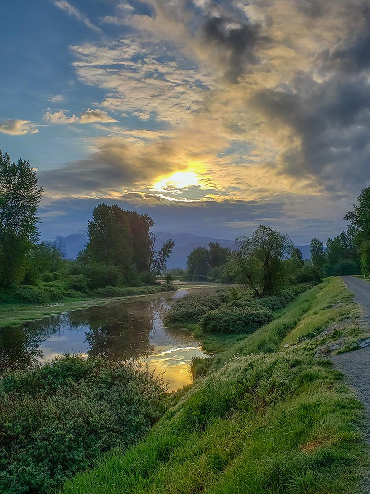 Sometimes you will be cycling on single-track next to the Coquitlam River. Photo courtesy of Alan Wallis