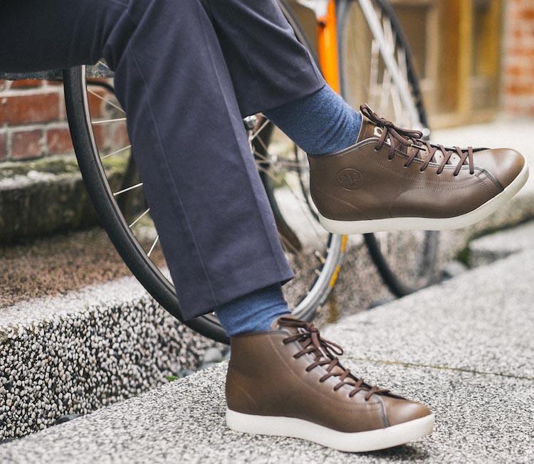 Quoc Pham cycling shoes - Urbanite Mid Brown