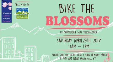 Bike the Blossoms in Vancouver on 29 April 2017