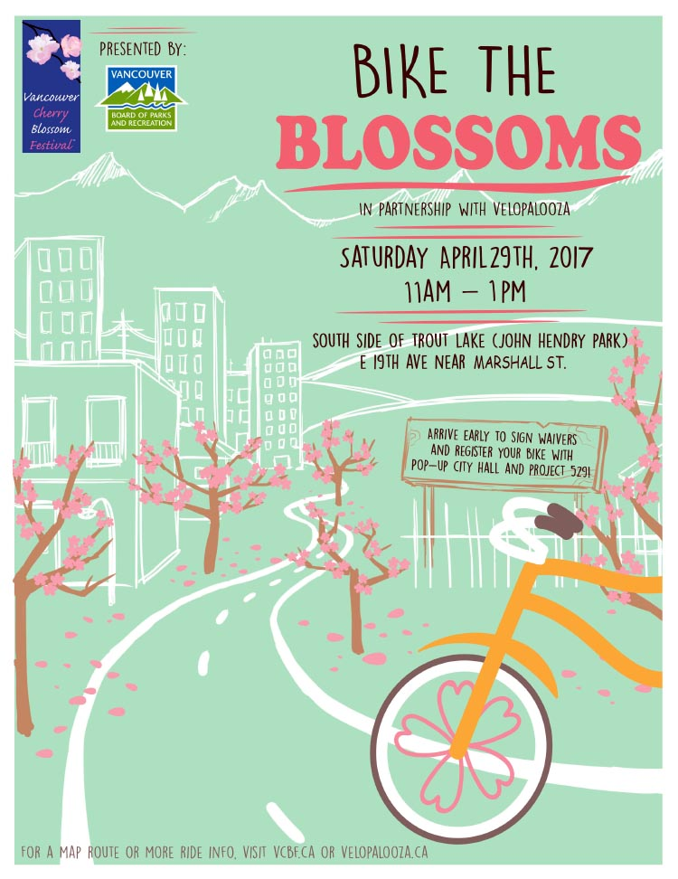 Don't miss the 2017 Bike the Blossoms event in Vancouver!