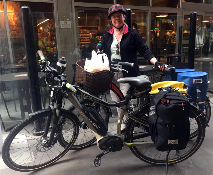 It's amazing how many things Joe and I can carry on our bikes! Moving towards a Car-Free Life