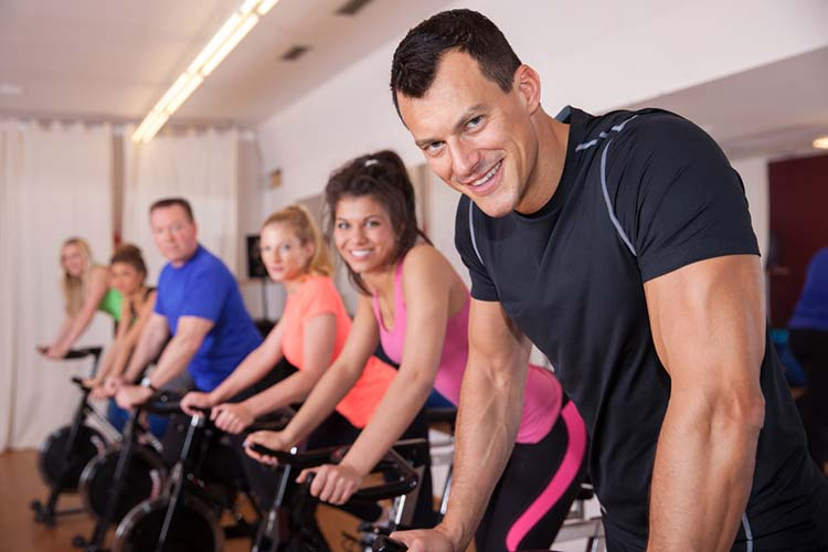 You can get incredibly fit on an indoor bike trainer. Read about a study that showed impressive anti-aging results in people who did high intensity interval training on stationary bikes
