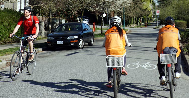 After Broadway, the Central Valley Greenway finally becomes quite safe, and even a little bit green.