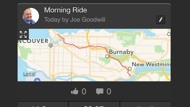 Average Joe Cyclist's Beginner Cyclist Training Plan: Phase 1. You can use the Strava app on your phone to review stats on completed rides. Average Joe Cyclist Beginner Cyclist training plan