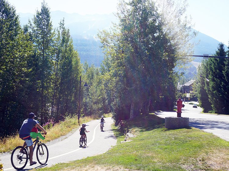 Whistler offers cycling that is suitable for the whole family. Whistler Valley Trail