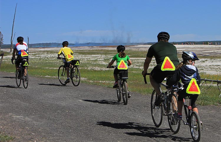Take the kids out on bikes - it's a perfect way to have fun and get some exercise together!