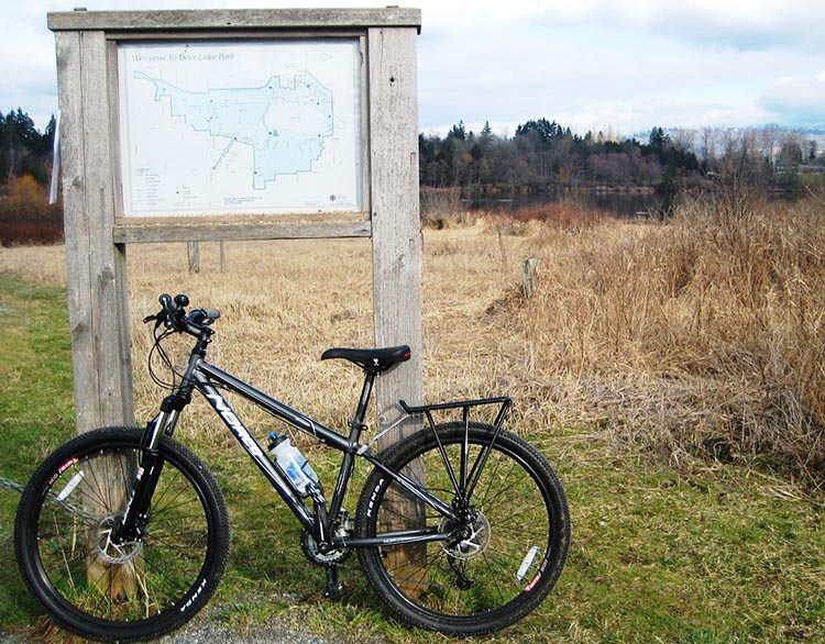 My Norco Storm mountain bike took me on many memorable rides, such as this one in Deer Lake Park in Burnaby, BC