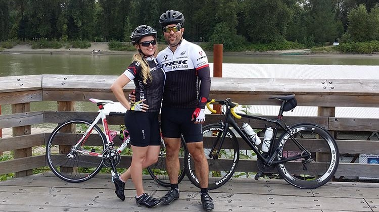 Matt Fenrich and wife - BC Ride to Conquer Cancer