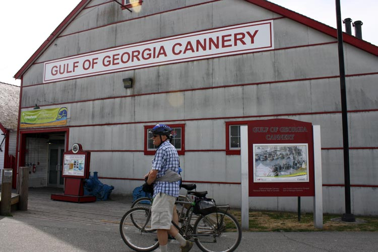 The historic Gulf of Georgia Cannery is directly accessible from the West Dyke Trail