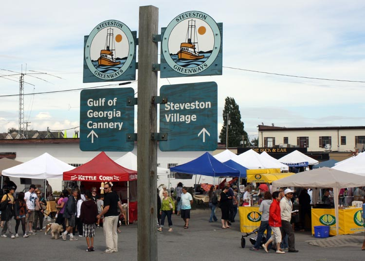 The historic Gulf of Georgia Cannery in Steveston is just a few hundred meters past Garry Point Park. The historic village of Steveston is a natural destination when you cycle the West Dyke Trai