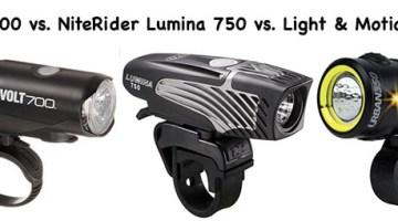 3 of the best bike lights for commuter cyclists – Light & Motion Urban 350 vs. CatEye Volt 700 vs. NiteRider Lumina 750