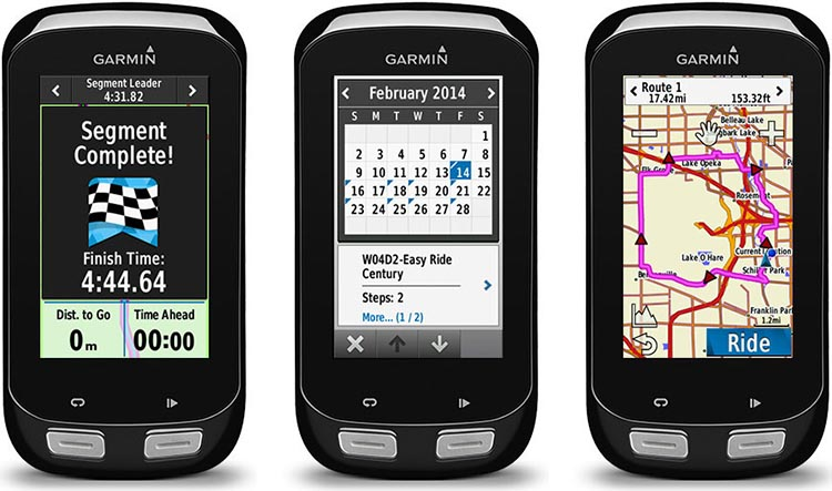 The Garmin Edge 1000 is the biggest of all the Garmin Edge bike computers, with a screen that is very easy to see. It is 2 cm taller than the Edge 820