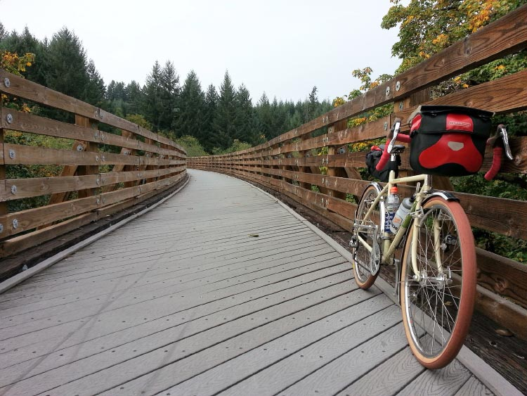 The Banks Vernonia mountain bike trail is perfect for cyclists, as the trail has been carved over time and previous rail tracks. Photograph from Flickr Creative Commons
