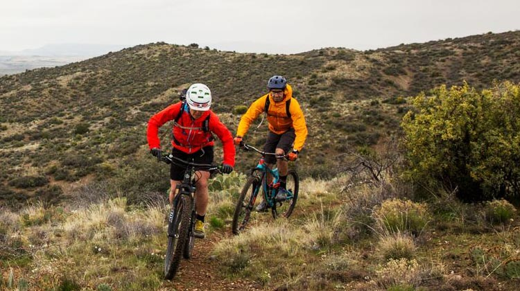 The Little Pan Loop, Black Canyon Trail, New River, Arizona, is also known as the lollipop loop, and offers an intense mountain bike trail that crosses Sonoran Deserts terrain