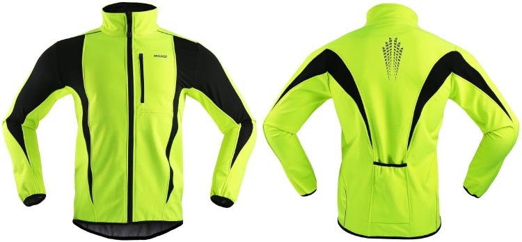 ARSUXEO Winter Warm UP Thermal Softshell Cycling Jacket. 7 of the Best Cheap Cycling Jackets Under $100