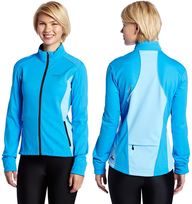Best Windproof Cycling Jackets: Gore Bike Wear Women's Alp-X Windstopper Windproof Jacket woman back and front 750(1)
