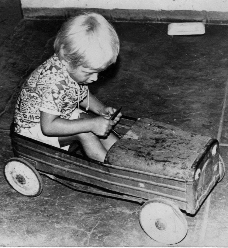 My first pedals were encased in a tin pedal car. But I never met a pair of pedals I didn't like!