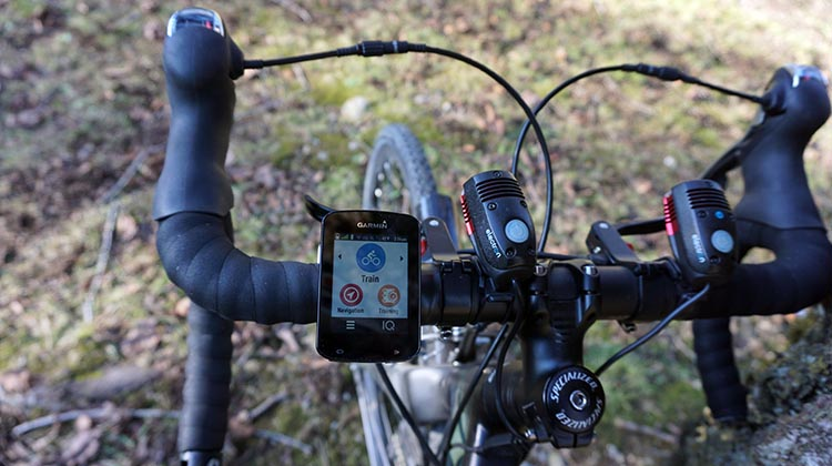Here is my Garmin Edge 820 on my handlebars. It is slim, small, and very good looking. AND it can alert your significant other if you have an accident. I love that ...