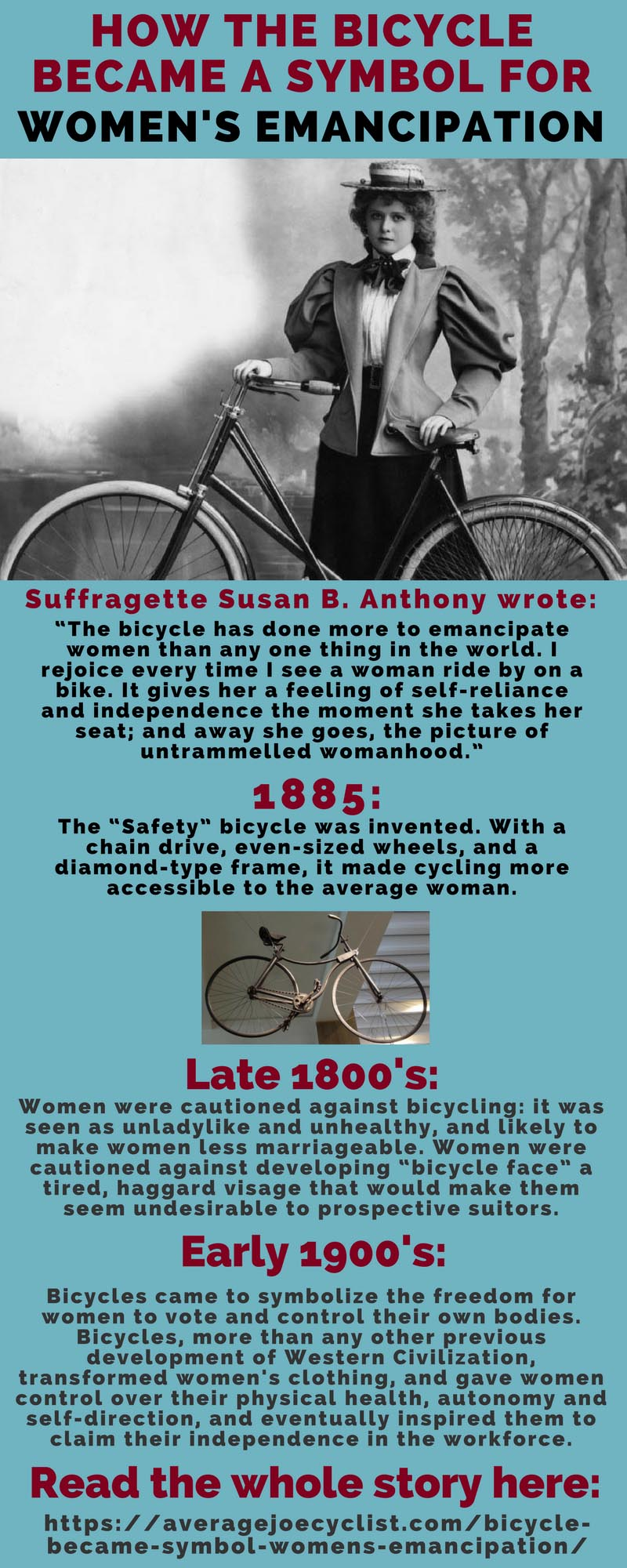 How the Bicycle became a symbol for womens emancipation