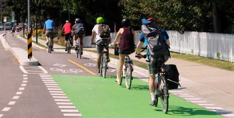 More and more people are getting to work by bike, thanks to decent infrastructure