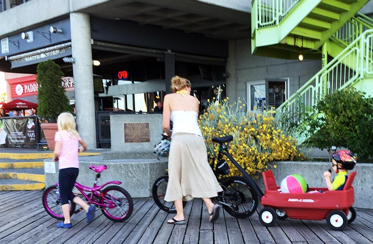 I cannot remember ever seeing a child cycling in New Westminster, except of course down on the Quay, where there is safe cycling for all