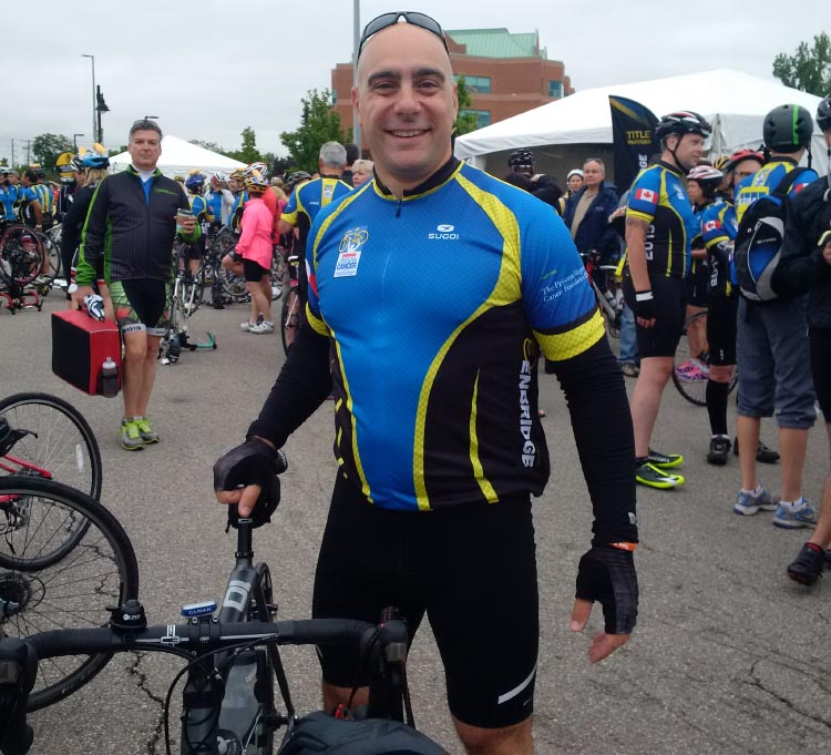 Ontario's David Marchione, photographed during a previous Ride to Conquer Cancer