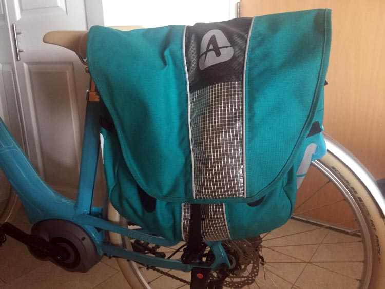 My Arkel panniers are beautifully color coordinated with my bike!
