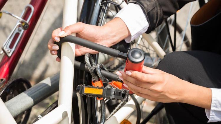 Protect your bike from bike thieves while you work