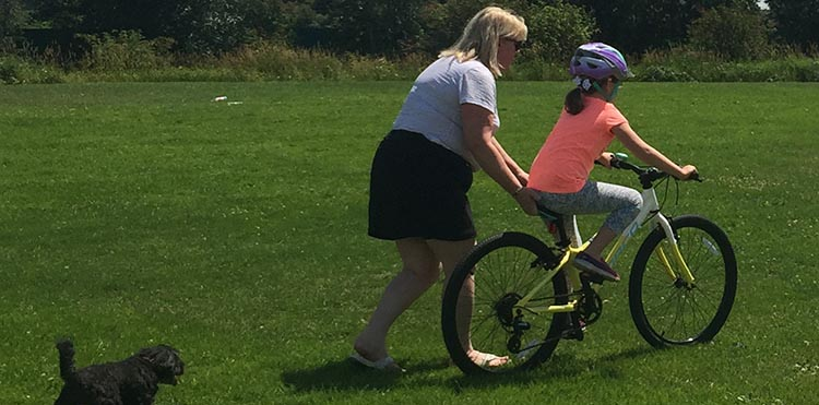 9 Simple Steps to Teach a Child to Ride a Bike. Persevere, and one day you will feel that magical moment when the child takes off on their own on a bike. How to teach a child to ride a bike