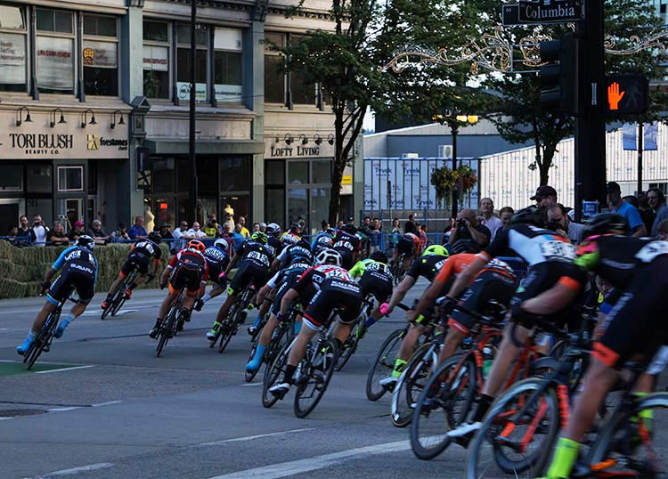 It was scary and impressive to watch the cyclists thundering down 6th Street in speeds in excess of 60 km per hour, before skillfully turning onto Columbia Street! First New Westminster Grand Prix a Huge Success